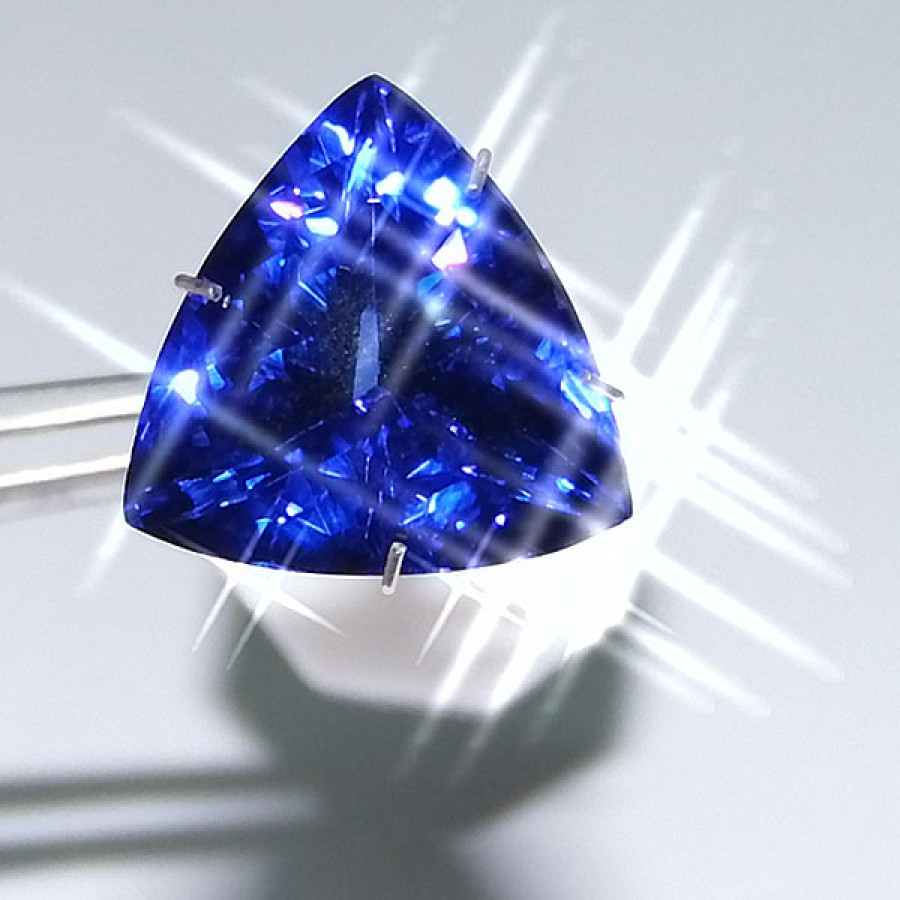 hues purple shaped piece of unique pin gem premium tanzanite cushion blue up at royal with good loose collection on cts quality sale