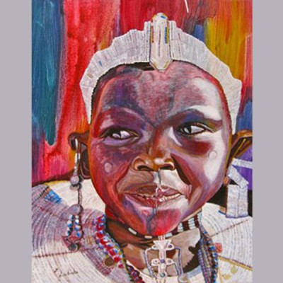 Masaai Lady decorated